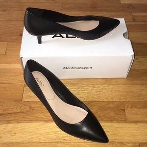 Black Aldo kitten heels